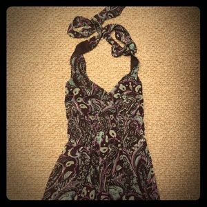 Purple Paisley Maxi Dress